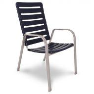 Krzesło sztaplowane 98x69cm Alpin Acamp srebrno-niebieskie