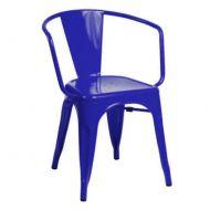 Krzesło 54x51x44cm King Home Tower Arm ciemnoniebieskie