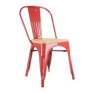 Krzesło 45x53x84,5cm King Home Tower Wood jesion/czerwone
