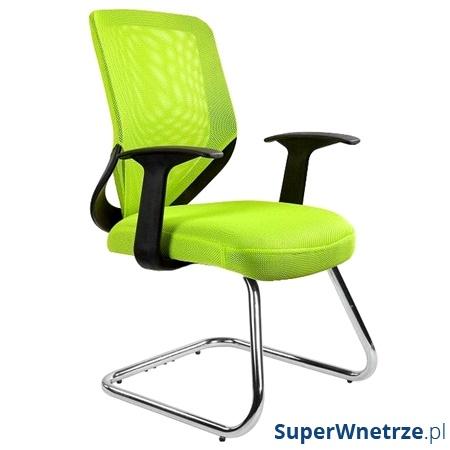 Krzesło Unique Mobi Skid zielone W-953-9