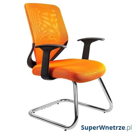 Krzesło Unique Mobi Skid pomarańczowe W-953-5