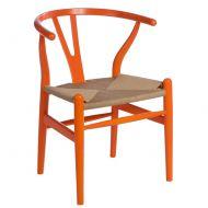 Krzesło Wicker Color pomarańczowe