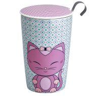 Kubek z zaparzaczką do herbaty 350ml Eigenart Kitty niebiesko-różowy