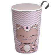 Kubek z zaparzaczką do herbaty 350ml Eigenart Kitty jasnoróżowy