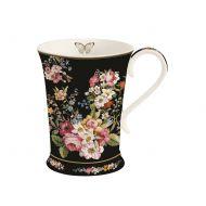 Kubek porcelanowy 0,27L Nuova R2S Blooming Opulence czarny