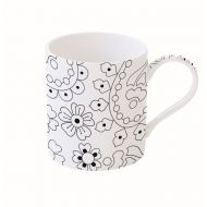 Kubek porcelanowy 400 ml Nuova R2S Art & Colour rośliny