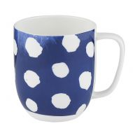 Kubek porcelanowy w kropki 380 ml Nuova R2S Indigo niebieski