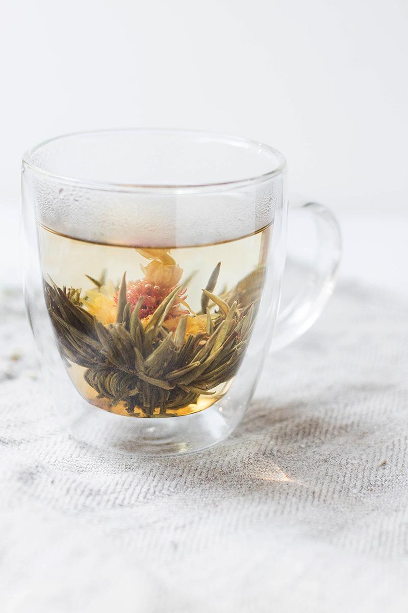 Kubek szklany termiczny na herbatę i kawę