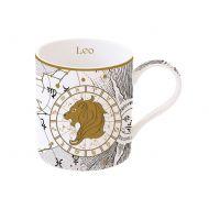 Porcelanowy kubek Lew 350ml Nuova R2S Zodiac