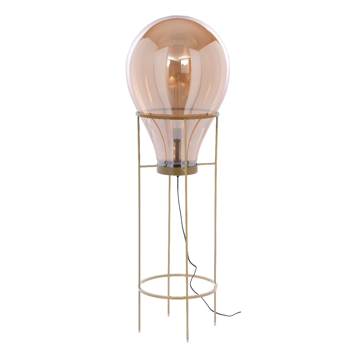 Lampa podłogowa Flame Champagne XXL 50x50x158 cm