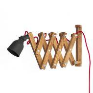 Lampa ścienna harmonijkowa Neli Design dąb czerwona