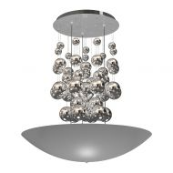 Lampa wisząca 60cm Milagro Perla Silver srebrna