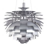 Lampa wisząca 48cm Step into design Archi srebrna