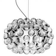 Lampa wisząca śr.35cm King Home Aria srebrna