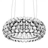 Lampa wisząca śr.50cm King Home Aria srebrna