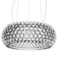 Lampa wisząca śr.65cm King Home Aria srebrna