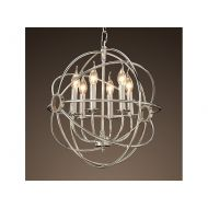 Lampa wisząca Ball 52cm Miloo Home srebrna