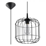 Lampa wisząca 25x25cm Sollux Lighting Celta czarna