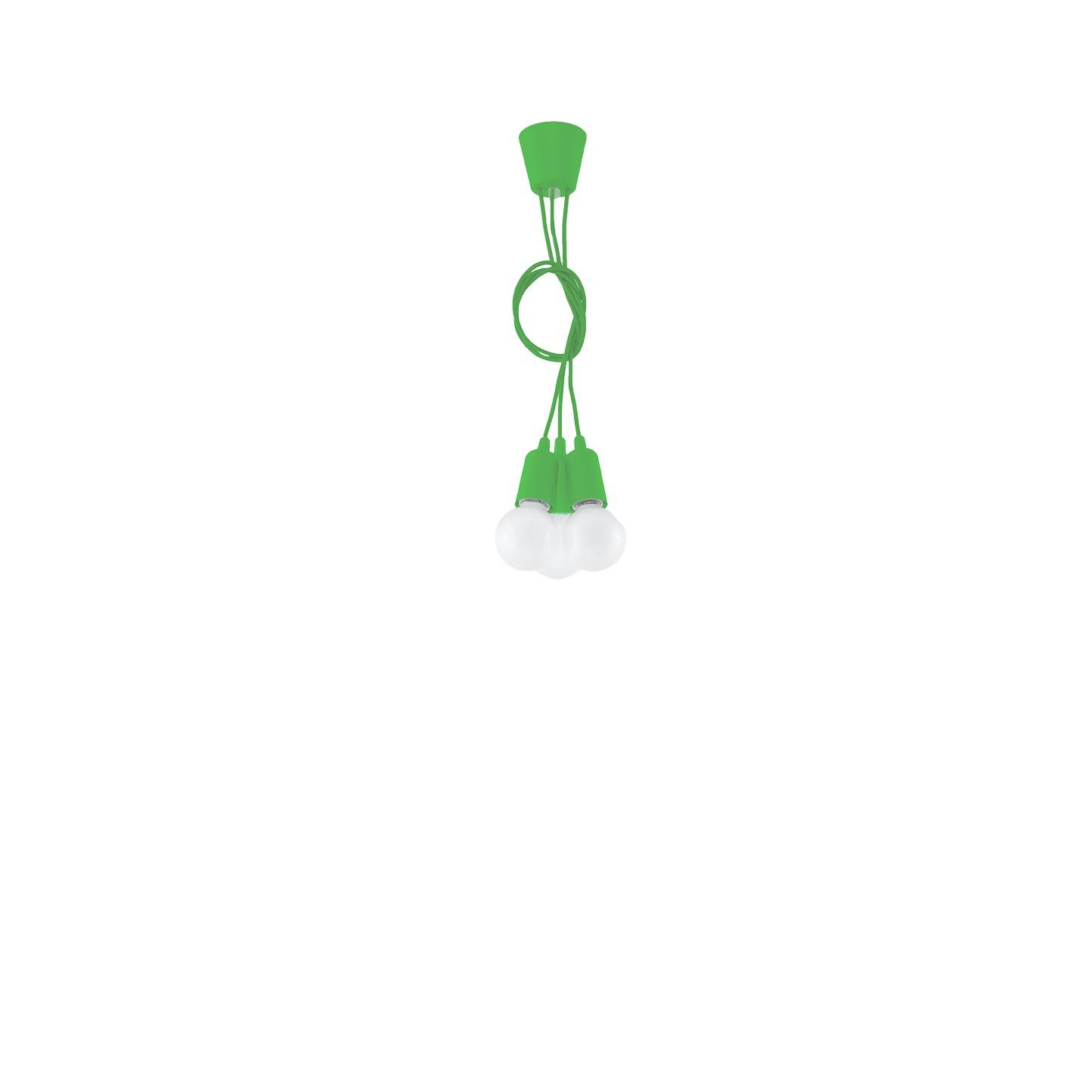 Lampa wisząca DIEGO 3 zielony