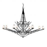 Lampa wisząca śr.151cm King Home Estrella biało-czarna