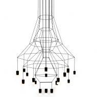 Lampa wisząca 120x200cm King Home Flusso czarno-srebrna