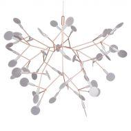 Lampa wisząca ledowa 72cm Step into design Chic Botanic miedziano-biała