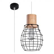Lampa wisząca 18,5x18,5cm Sollux Lighting Rida czarna