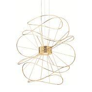 Lampa wisząca 30x30x180cm King Home Scetch złota