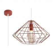 Lampa wisząca 100x33x33cm Sollux Lighting Umberto miedziana