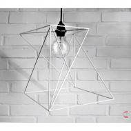 Lampa Zulu 32cm biała