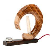 Lampka stołowa ręcznie robiona Custom Custom Woods