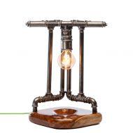Lampka stołowa ręcznie robiona Eyjafjallajokull Custom Woods