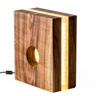 Lampka stołowa ręcznie robiona Silfra Zebrano Custom Woods