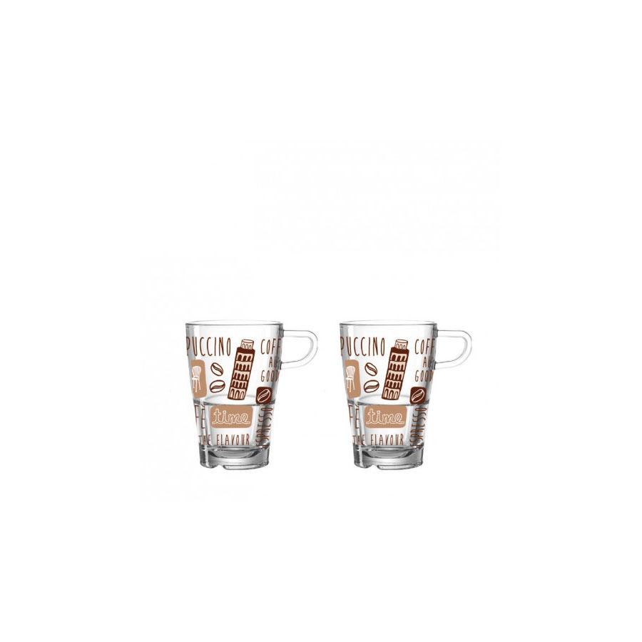 Zestaw 2 szklanek do latte macchiato La Vita Leonardo