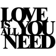 Napis 3D na ścianę DekoSign LOVE IS ALL YOU NEED czarny
