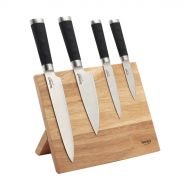 Zestaw 4 noży z drewnianym magnetycznym stojakiem Blade Lamart