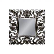Lustro wiszące 100x100cm D2 Baroque srebrne