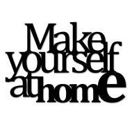 Napis 3D dekoracyjny MAKE YOURSELF AT HOME czarny