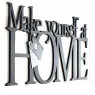 Napis 3D na ścianę DekoSign MAKE YOURSELF AT HOME czarny