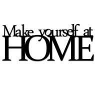 Napis na ścianę DekoSign MAKE YOURSELF AT HOME czarny