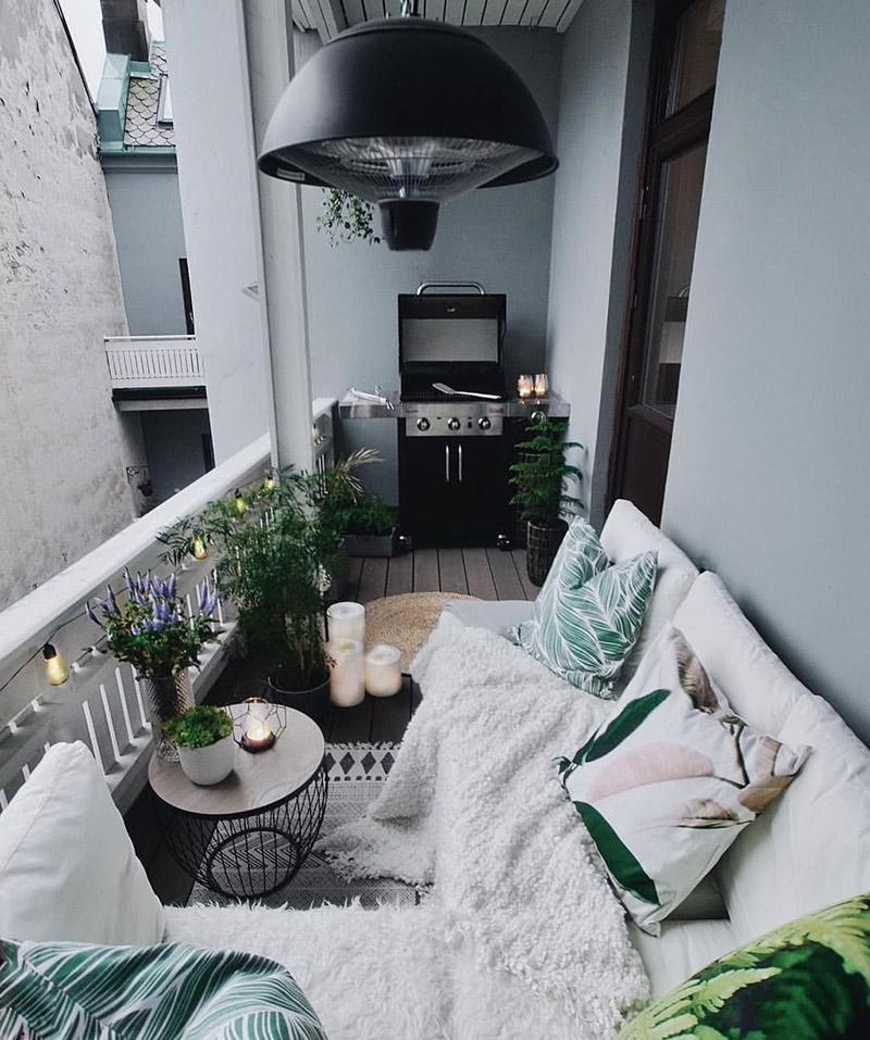 balkon w bloku - inspiracja jak urządzić