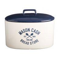 Pojemnik na pieczywo 31x18x23,5cm Mason Cash Varsity granatowo-biały