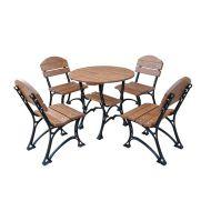 Meble ogrodowe Restor De Luxe bez podłokietników 80cm Fiemar brązowe