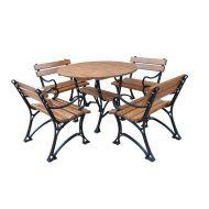 Meble ogrodowe Restor z podłokietnikami 80cm Fiemar brązowe
