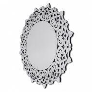 Okrągłe lustro dekoracyjne w ażurowej ramie lustrzanej Medea 110x110cm