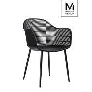 Krzesło Modesto Basket czarne