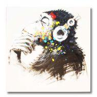 Obraz olejny malowany ręcznie na płótnie Monkey 80x80cm