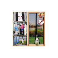 Moskitiera biała na drzwi z magnesami 210x100cm