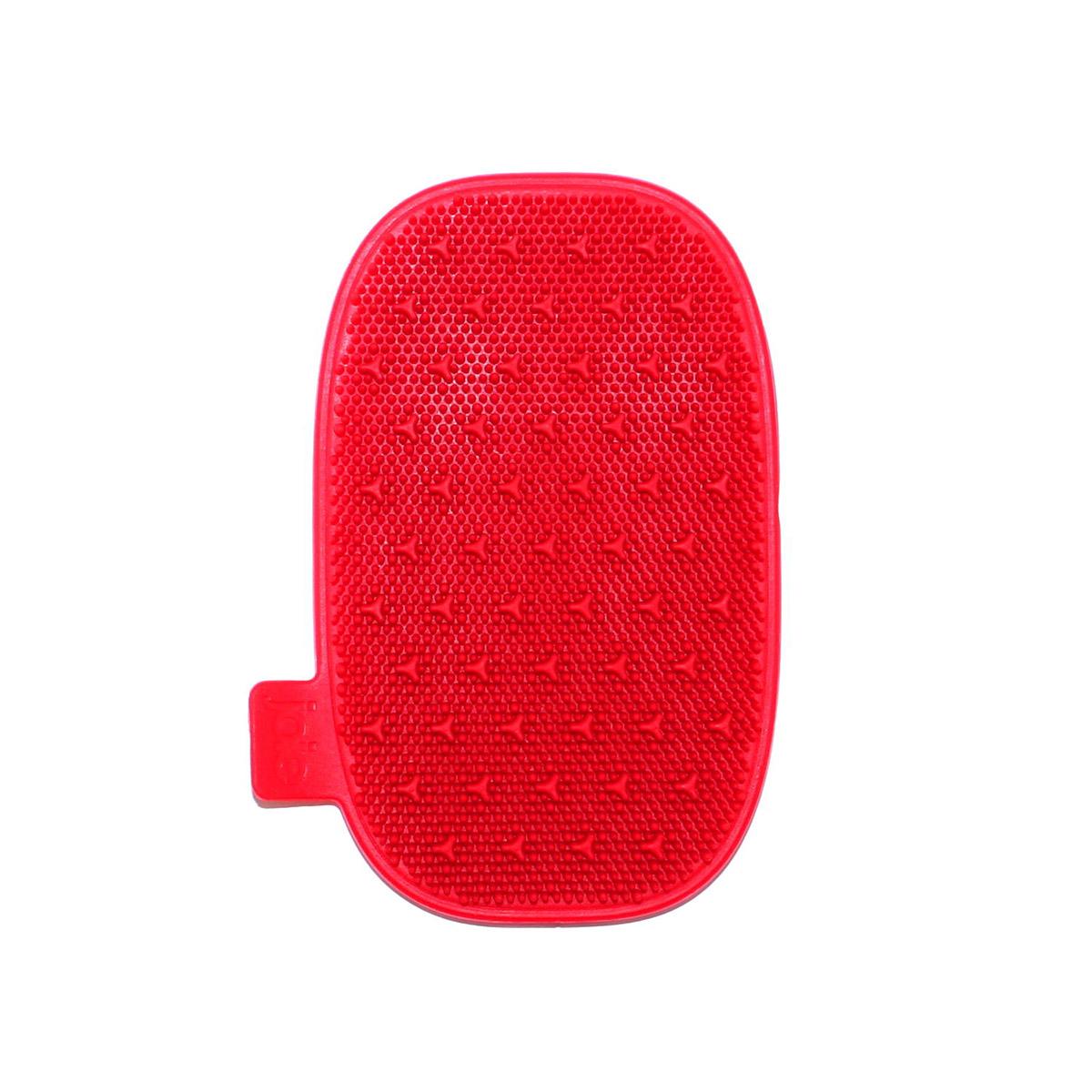 myjka silikonowa, 12,5 x 8 cm, czerwona