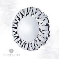 Ness - okrągłe lustro dekoracyjne w ramie lustrzanej